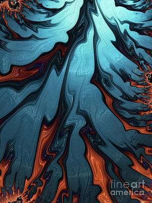 Abstract Flowers Digital Art - Molten Lava by Raphael Terra