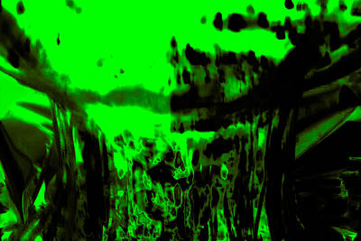 Digital Art - Molten Lime Green by Samantha Thome