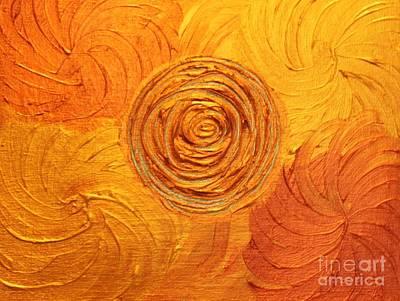 Molten Spiral Art Print by Rachel Hannah