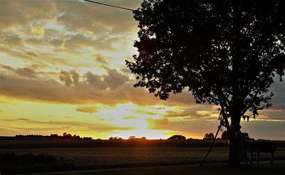 Photograph - Molton Gold Sunset by Susan Baker