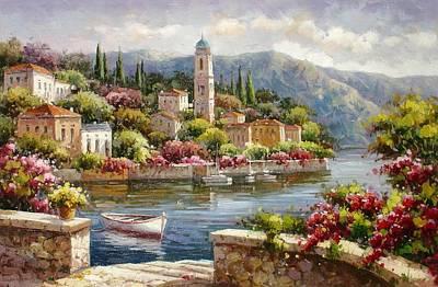 Moltrasio, Lake Como Art Print by Lucio Campana