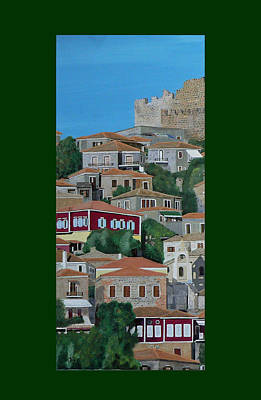 Mixed Media - Molyvos One Of Three by Eric Kempson
