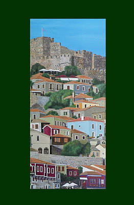 Mixed Media - Molyvos Two Of Three by Eric Kempson