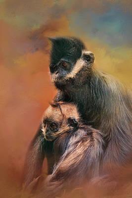 Photograph - Mom And Baby Francois Langur by Jai Johnson