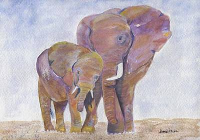 Painting - Mom And Me by Jamie Frier
