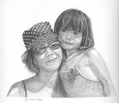 Mom And Me Art Print by Sue Olson