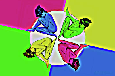 Digital Art - Mom And Pop by John Haldane