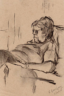 Drawing - Mom Sleep by Ruth Renshaw