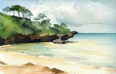 Mombasa Painting - Mombasa Beach by Stephanie Aarons
