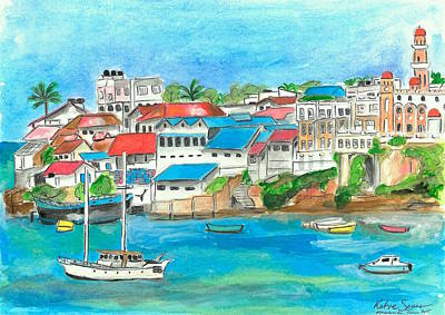 Painting - Mombasa Town by Katie Sasser