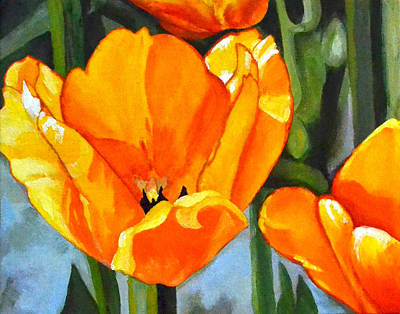 Tulip Festival Painting - Moment In The Sun 2 by Mary Chant