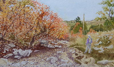 Painting - Moment In The Sun - Crossing Tejas Creek by Joel Deutsch