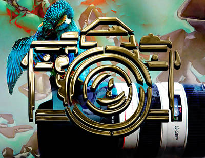 Mixed Media - Moment In Time Camera Collection by Marvin Blaine