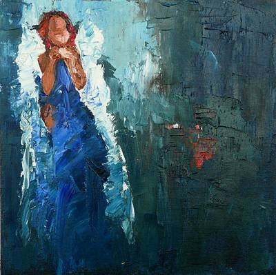 Angel Painting - Moment Of Quietude by Judy Mackey