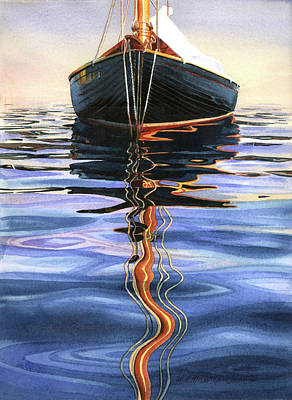 Painting - Moment Of Reflection Vi by Marguerite Chadwick-Juner