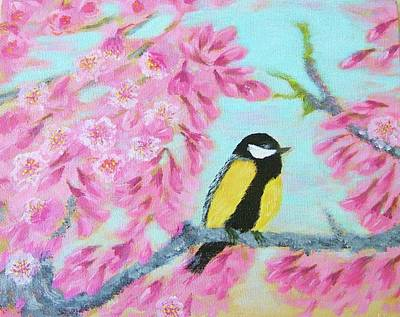 Bob Ross Style Painting - Moment Of Spring by Larysa Kalynovska