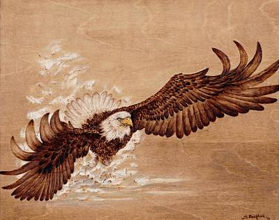 Pyrography Pyrography - Moment Of Truth by Sharon Bechtold