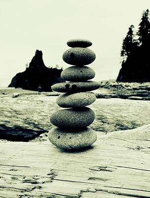 Photograph - Cairn At La Push Beach by Dan Sproul