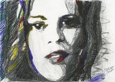 Moment. Marina Meirelles. 13 March, 2015 Art Print by Tatiana Chernyavskaya