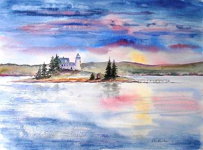 Painting - Moments Before Sunset by Diane Kirk