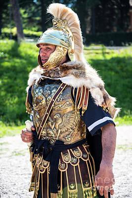 Photograph - Watchful Roman Legionnary Soldier by Brenda Kean