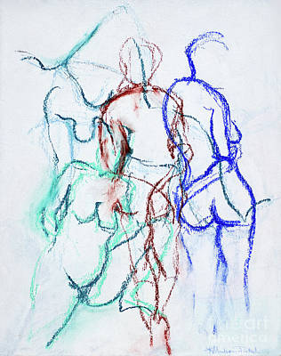 Drawing - Moments In Time No 2 by Kerryn Madsen-Pietsch