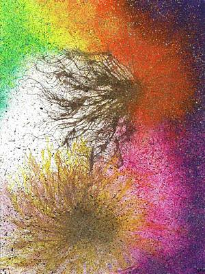 Cosmic Space Painting - Moments Of The Divine Enlightenment #686 by Rainbow Artist Orlando L aka Kevin Orlando Lau