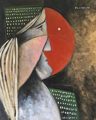 Outsider Art Painting - Moments The Thought by Mark M Mellon