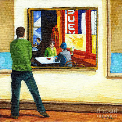 Moments With Hopper - Portrait Oil Painting Art Print