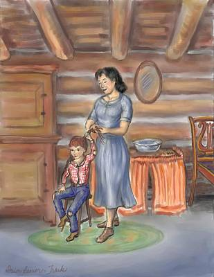 Drawing - Moments With Mom by Dawn Senior-Trask