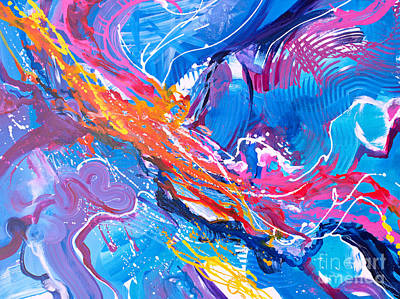 Painting - Momentum H by Expressionistart studio Priscilla Batzell