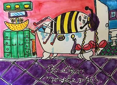 Painting - Mommee-bee Bee Clean  by Dorothy Ruth Phelps Dottie Phelps Visker