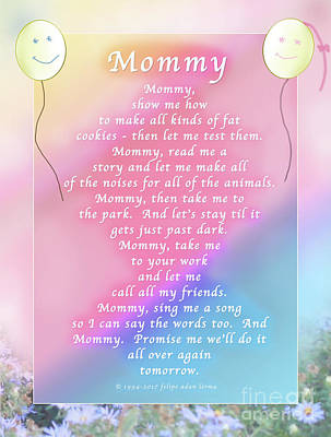Photograph - Mommy, An Original Writing by Felipe Adan Lerma