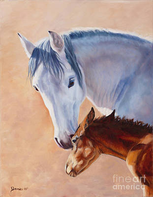 Danielle Smith Painting - Mommy's Love by Danielle Smith