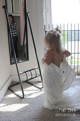 Photograph - Mommy's Wedding Dress by Melissa  Mim Rieman