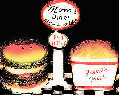 Mom's Diner - Open 24 Hours Art Print by Steve Ohlsen