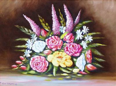 Painting - Moms Flowers by Gene Gregory