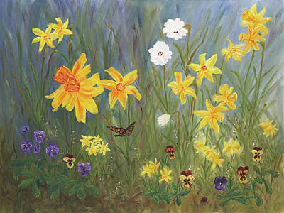Tete Painting - Mom's Garden by Carlene Pappas