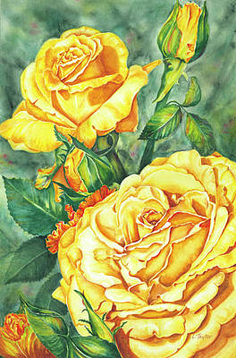 Painting - Mom's Golden Glory by Lori Taylor