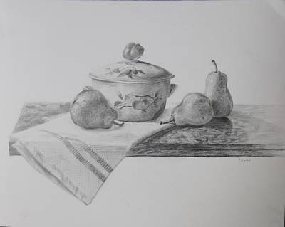 Drawing - Mom's Kitchen by Grace Diehl