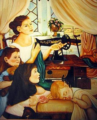 Painting - Mom's Sewing Room  by Dalgis Edelson