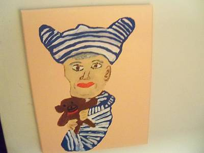 Mom's The Baby Art Print by Rhonda Jackson