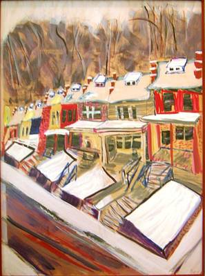 Art Print featuring the painting Mom's View by Leslie Byrne