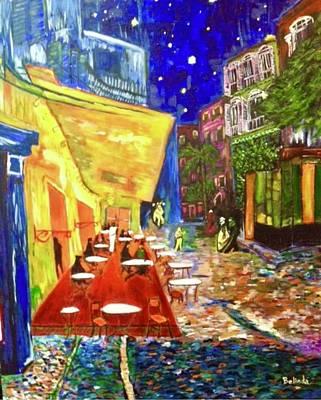 Painting - Mon Cafe De Nuit -  by Belinda Low