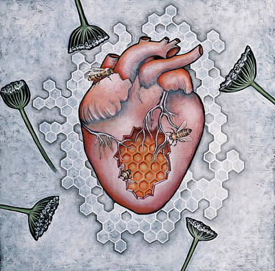 Painting - Mon Coeur- Where The Honeybees Live by Sheri Howe