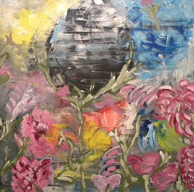 Pictori Romani Contemporani Painting - Mon Jardin Des Merveilles by Carmen Kolcsar