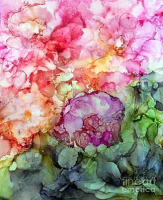 Wall Art - Mixed Media - Mon Jardin by Linda Bartlett