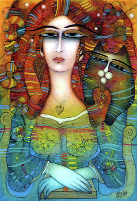 Painting - Mona Albena by Albena Vatcheva