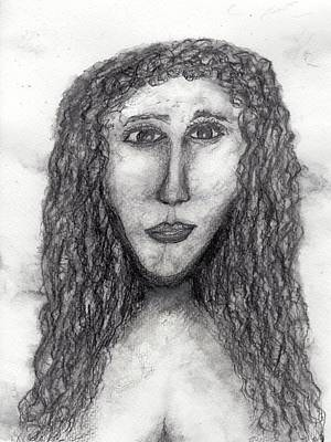 Drawing - Mona Chica by Jim Taylor