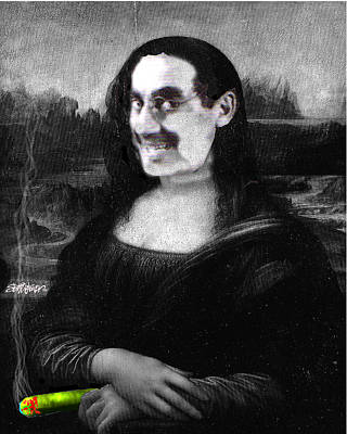 Groucho Digital Art - Mona Grouchironi by Seth Weaver